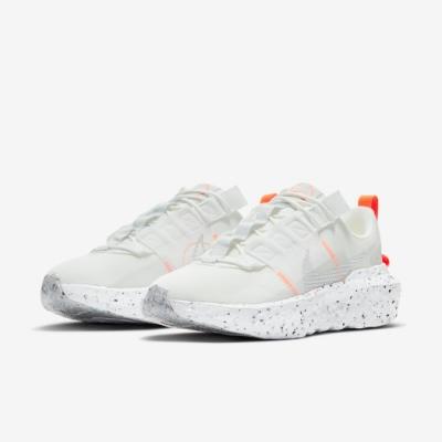 Nike 休閒鞋 Crater Impact 運動 女鞋 再生材質 環保理念 球鞋穿搭 白 淺卡其 CW2386100