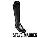 STEVE MADDEN-ANABELL經典真皮馬靴-黑色