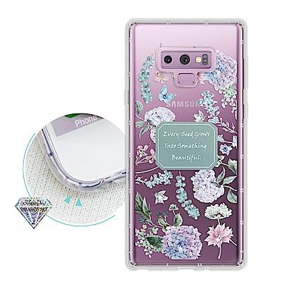 浪漫彩繪 三星 Samsung Galaxy Note9 水鑽空壓氣墊手機殼(幸...