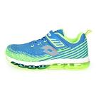 LOTTO 男女大童氣墊跑鞋-路跑 慢跑 寶藍螢光綠