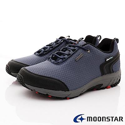 日本Moonstar戶外健走鞋-銀離子4E寬楦款-DM027灰藍(男段)