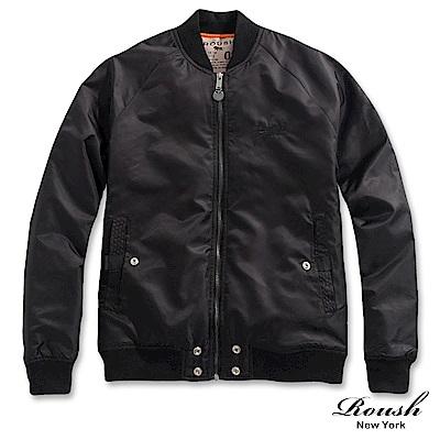 Roush 特殊剪裁雙層口袋設計MA-1鋪棉外套(2色)