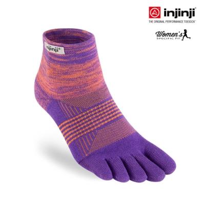 【INJINJI】TRAIL女野跑避震吸排五趾短襪 [紫色]