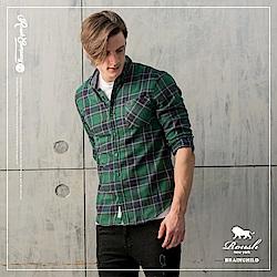 Roush 基本款法蘭絨格紋襯衫(2色)