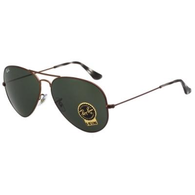 RAY BAN 太陽眼鏡(亮咖啡色)大面版RB3025