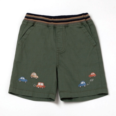 PIPPY小汽車刺繡短褲-綠
