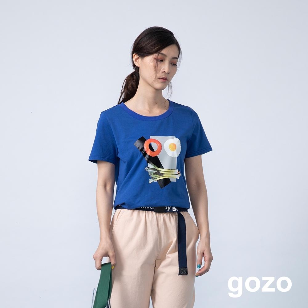 gozo 美食饗宴造型印花T恤(二色)