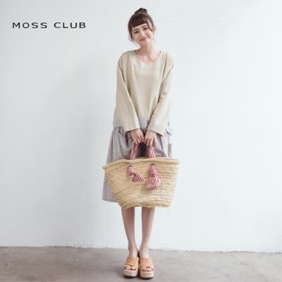 【MOSS CLUB】拼接格紋休閒-洋裝(二色)