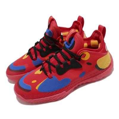 adidas 籃球鞋 Harden Vol. 5 運動 男鞋 愛迪達 明星款 避震 包覆 球鞋 紅 黃 FZ1292