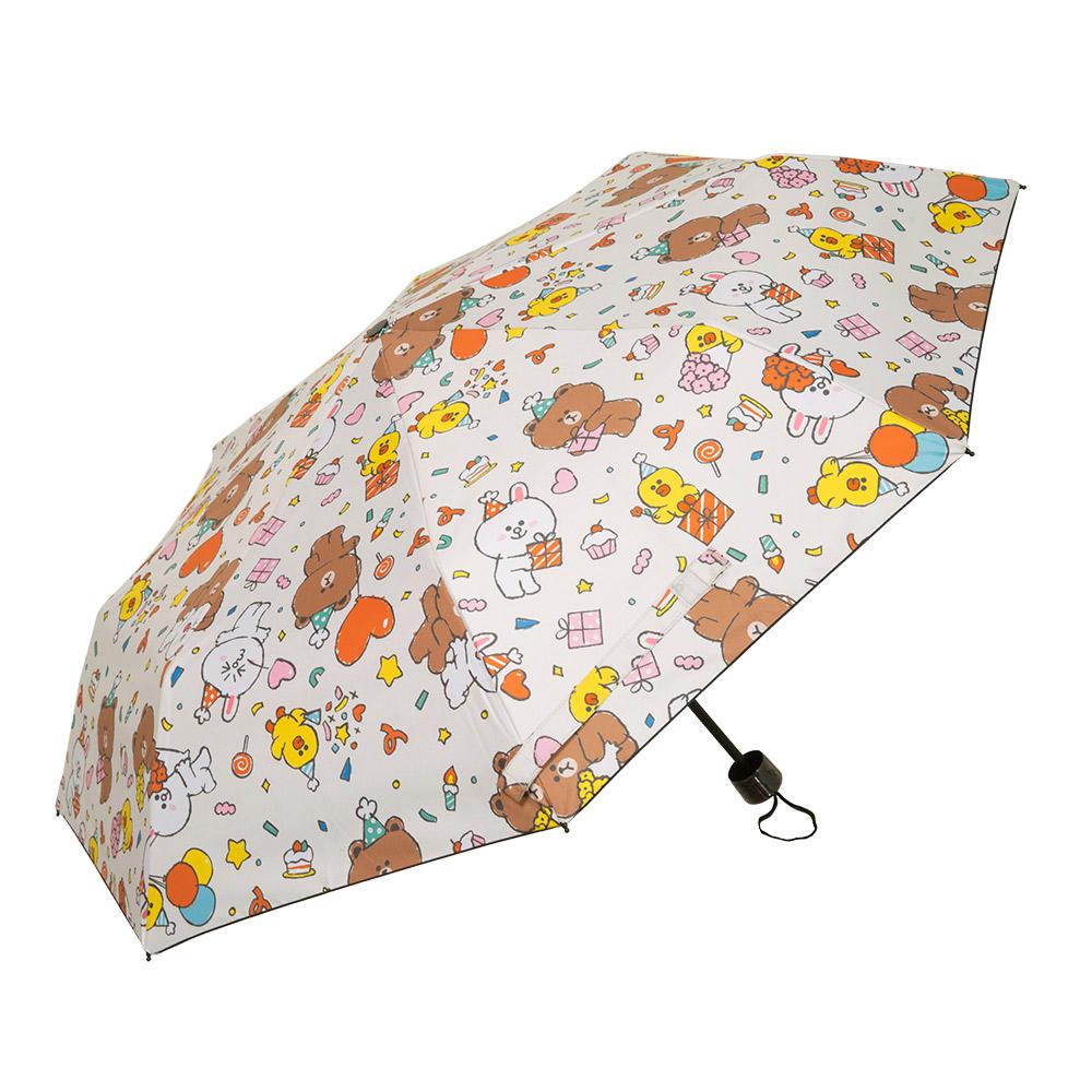【OUTDOOR】LINE聯名款-派對晴雨二用傘-奶茶色 ODBF20D13BE