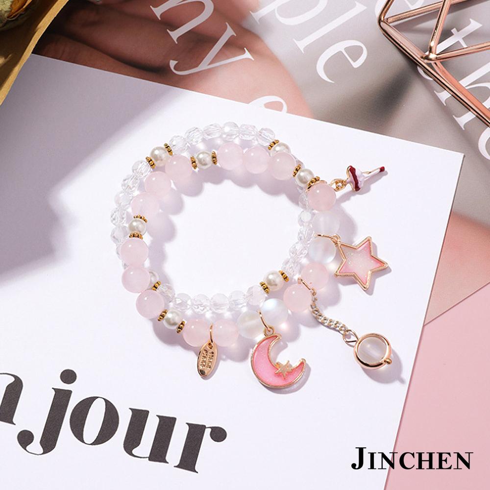 JINCHEN 韓版合金水晶手鍊 product image 1