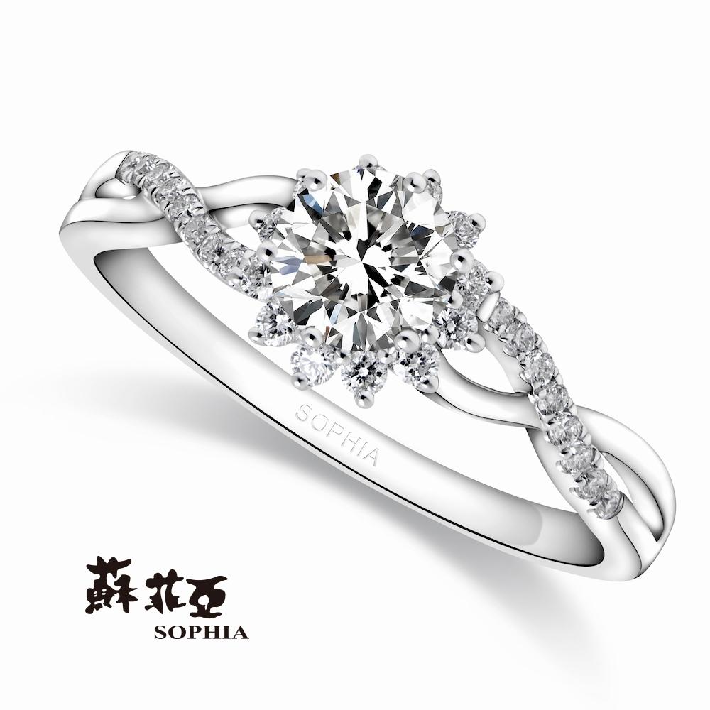 SOPHIA 蘇菲亞珠寶 - 艾莉絲 0.30克拉 18K白金 鑽石戒指