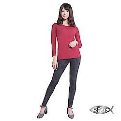 5B2F【五餅二魚】 遠紅外線3D薔薇紋雕飾褲