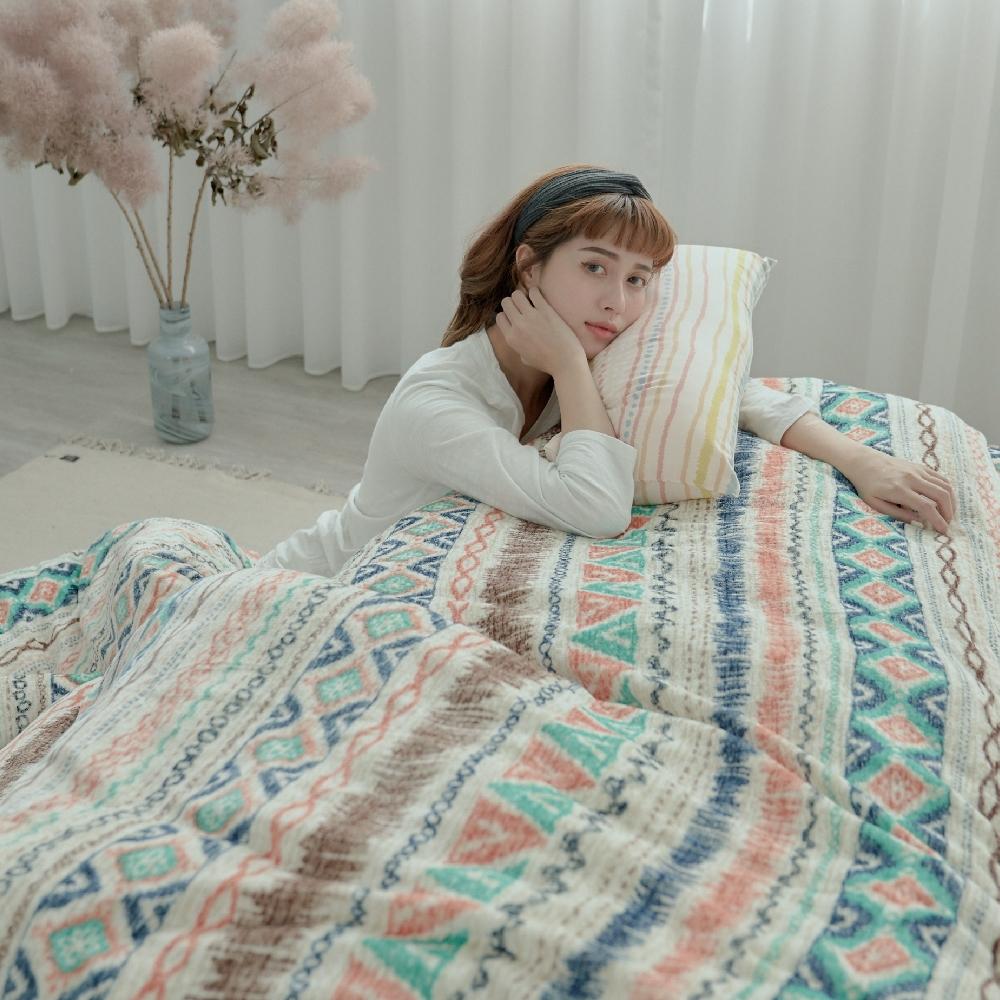BUHO 極柔暖法蘭絨(6x7尺)標準雙人兩用被套毯(波荷奇珂)