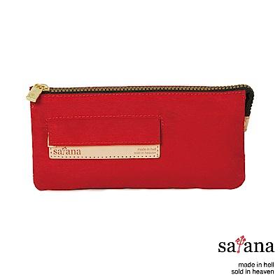 satana - Soldier 多夾層拉鍊長夾 - 紅色