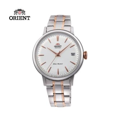 ORIENT 東方錶 DATEⅡ系列 機械錶 鋼帶款 玫瑰金色 RA-AC0008S