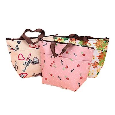 普普風  保冰保溫手提袋 便當袋 (3入組)顏色隨機