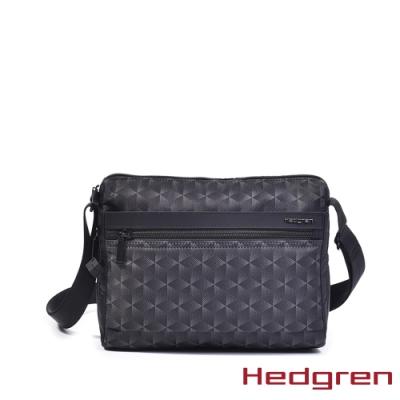 【Hedgren】方塊黑多層收納斜背包 – HIC176M EYE