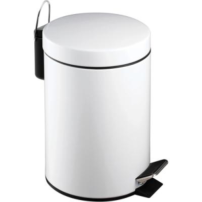《Premier》腳踏式垃圾桶(白3L)