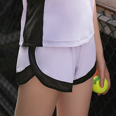 華歌爾-專業運動  M-LL 短褲(紫)吸濕快乾