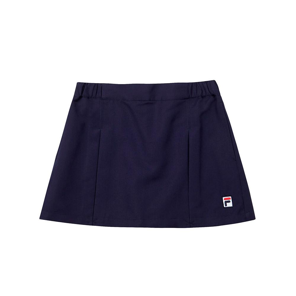 FILA KIDS 童平織短褲-丈青 5SHT-4445-NV