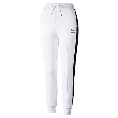 PUMA-女性流行系列經典T7長褲-白色-歐規