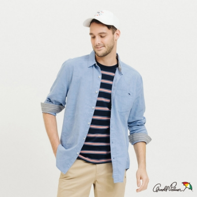 Arnold Palmer-男裝-COOLMAX涼感長袖襯衫-淺藍