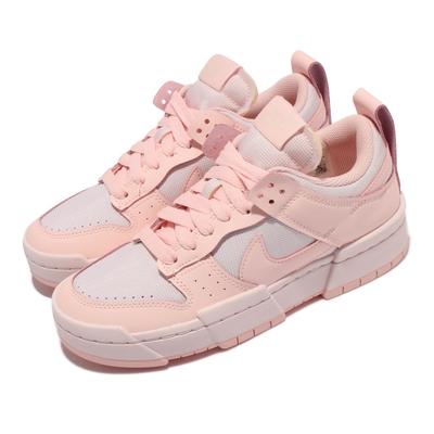 Nike 休閒鞋 Dunk Low Disrupt 女鞋 解構 厚底 泡棉鞋舌 舒適 球鞋穿搭 櫻花粉 白 CK6654-602