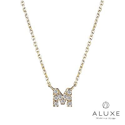 A-LUXE 亞立詩 Alphabet系列10K鑽石項鍊-M