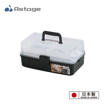 日本 Shelf Power Black 多功能2層收納箱350-G2