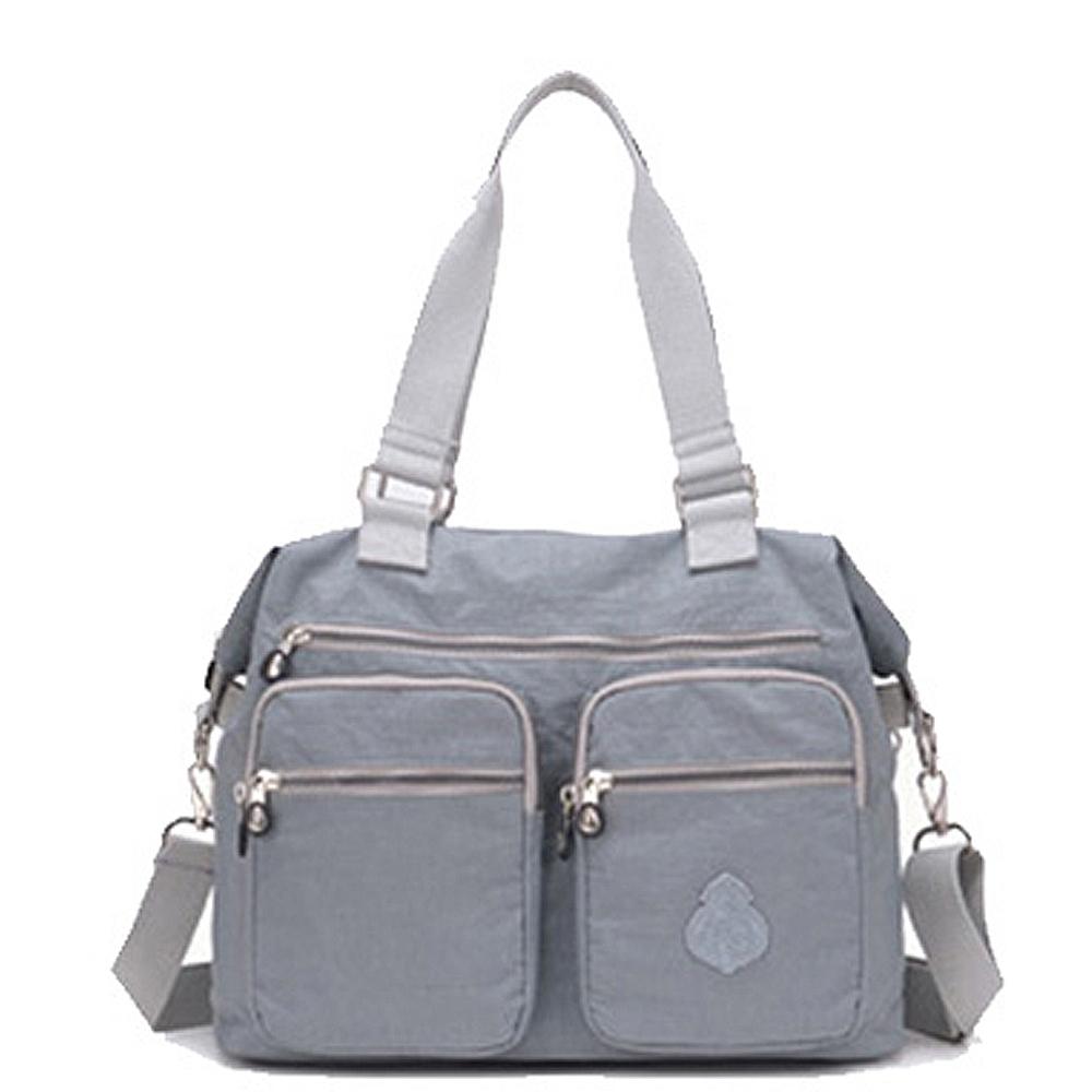 【KISSDIAMOND】防潑水超大容量手提媽媽包-6615(手提/肩背/大容量/銀灰色)