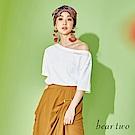 beartwo 平口繡花文字短袖T恤(二色)