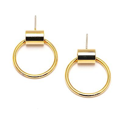 LOVERS TEMPO加拿大品牌 SWING HOOPS幾何圓圈金色耳環