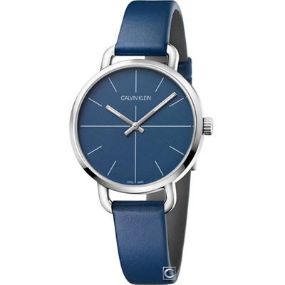 Calvin Klein K7B even超然時尚腕錶(K7B231VN)藍/36mm