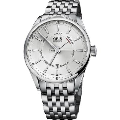 ORIS 豪利時 Artix 指針式星期機械錶-銀/42mm