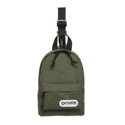 【OUTDOOR】單肩/側背二用包-橄欖綠 OD291107OE