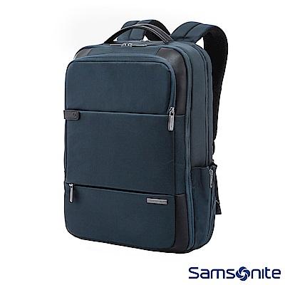 Samsonite新秀麗 Garde經典多功能夾層筆電後背包 15.6 (海軍藍)