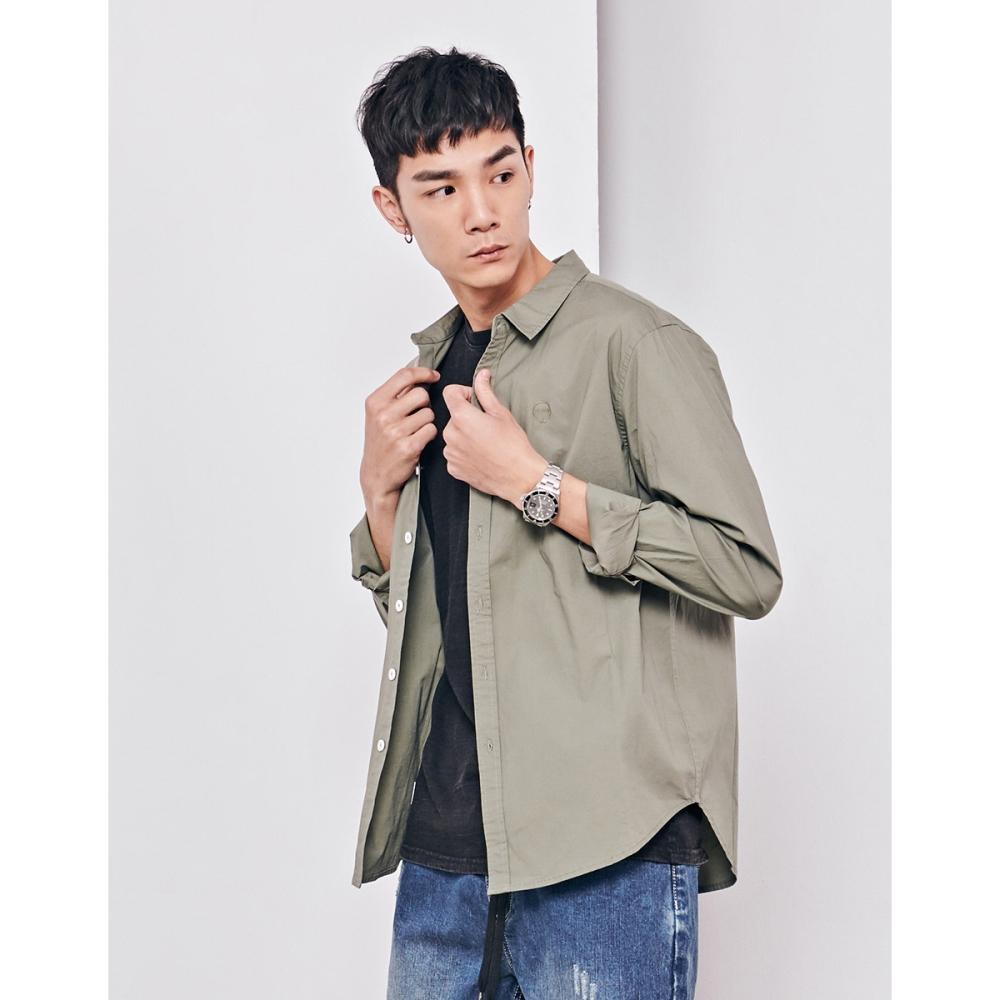 NAVY-薄款長袖襯衫(兩色)-男【SNA090】