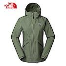 The North Face北面女款軍綠色可收納式風衣外套|3RL7ZCE