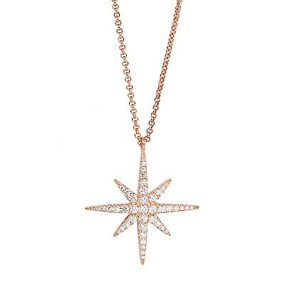 apm MONACO法國精品珠寶 閃耀玫瑰繁星鑲鋯項鍊