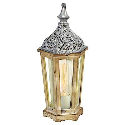 EGLO歐風燈飾 復刻木紋造型檯燈/床頭燈(不含燈泡)