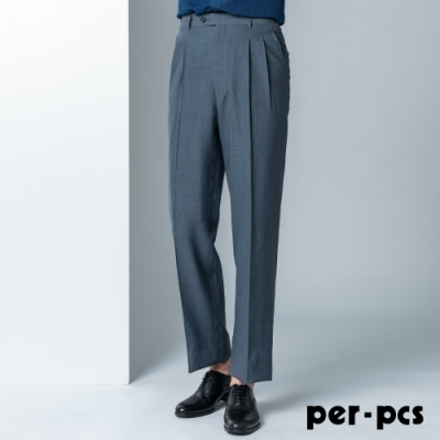 per-pcs 商務紳士打摺西裝褲_質感灰(82261)