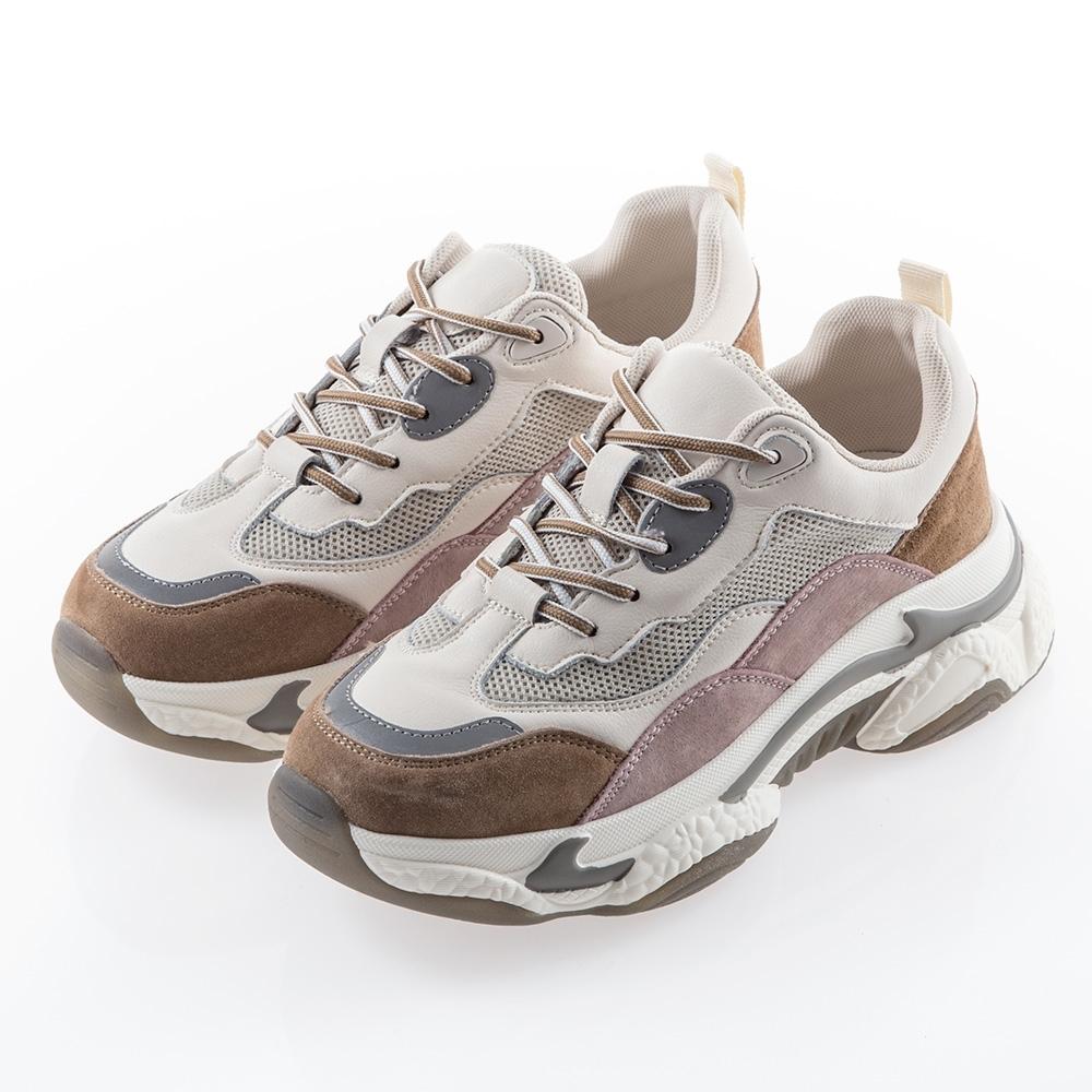 [時時樂限定]Camille's韓國空運正韓-牛皮運動老爹鞋-5款任選