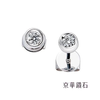 京華鑽石  極光系列 0.12克拉 18K鑽石耳環