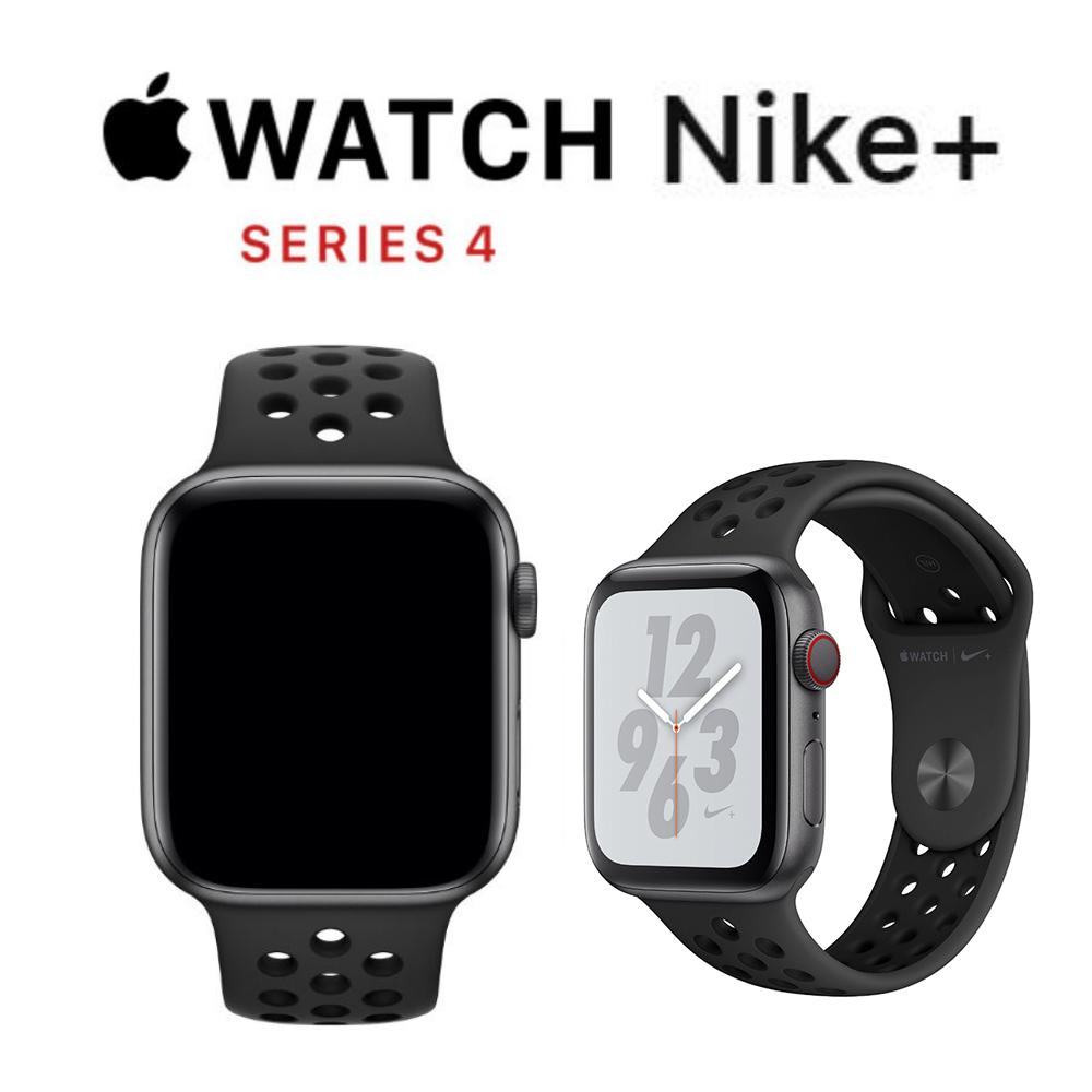 Apple Nike+ S4 GPS+網路 40mm 太空灰鋁金屬錶殼搭黑色運動型錶帶
