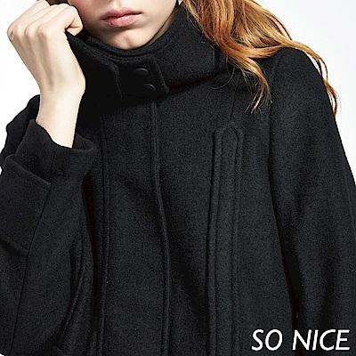 SO NICE率性連帽羊毛大衣