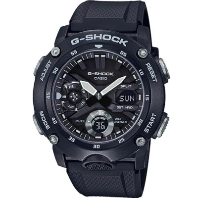 G-SHOCK 極度強悍碳纖維核心防護設計腕錶-黑(GA-2000S-1A)