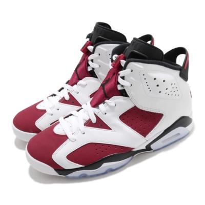 Nike 籃球鞋 Air Jordan 6代 Retro 男鞋 Carmine AJ6 喬丹 白 紅 CT8529106