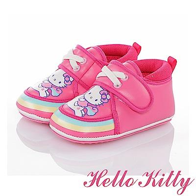 (雙11)HelloKitty 彩虹系列 減壓柔軟寶寶學步童鞋-桃