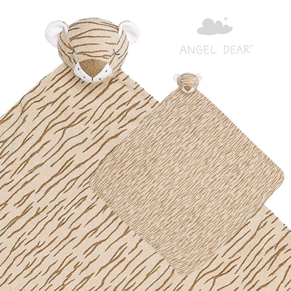 美國 Angel Dear 大頭動物嬰兒毛毯禮盒版 (小老虎)